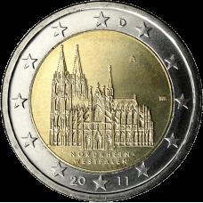 Saksa 2011 2 € Westfalen A UNC