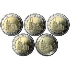 Saksa 2011 2 € Westfalen ADFGJ UNC