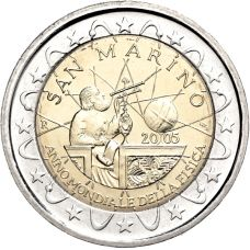 San Marino 2005 2 € Galileo Galilei UNC