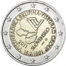 Slovakia 2011 2 € Visegrad UNC