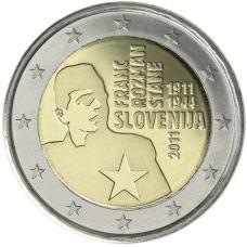 Slovenia 2011 2 € Franc Rozman UNC