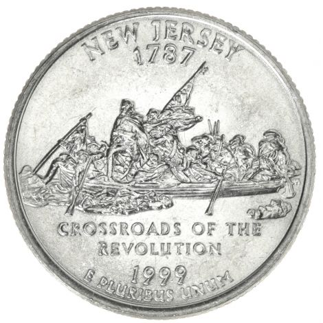 "USA 1999 $0,25 New Jersey ""P"" UNC"
