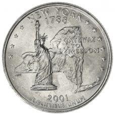"USA 2001 $0,25 New York ""D"" UNC"