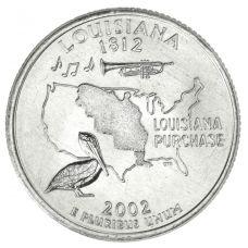 "USA 2002 $0,25 Louisiana ""D"" UNC"