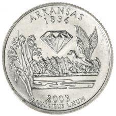 "USA 2003 $0,25 Arkansas ""D"" UNC"