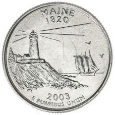 """USA 2003 $0,25 Maine """"D"""" UNC"""