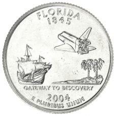 "USA 2004 $0,25 Florida ""D"" UNC"