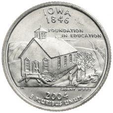 "USA 2004 $0,25 Iowa ""D"" UNC"