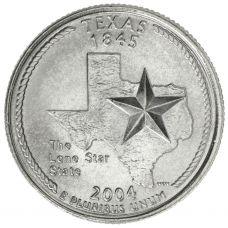 """USA 2004 $0,25 Texas """"D"""" UNC"""