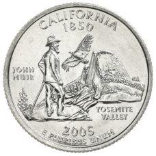 "USA 2005 $0,25 California ""D"" UNC"