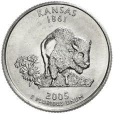 "USA 2005 $0,25 Kansas ""D"" UNC"