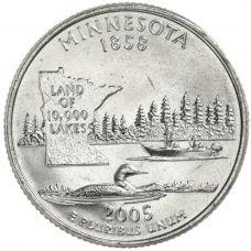 "USA 2005 $0,25 Minnesota ""D"" UNC"
