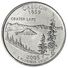 """USA 2005 $0,25 Oregon """"D"""" UNC"""