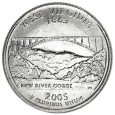 "USA 2005 $0,25 West Virginia ""D"" UNC"