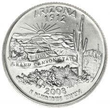 "USA 2008 $0,25 Arizona ""D"" UNC"