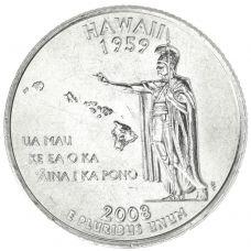 """USA 2008 $0,25 Hawaii """"D"""" UNC"""