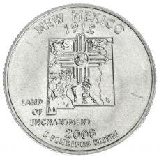 "USA 2008 $0,25 New Mexico ""D"" UNC"
