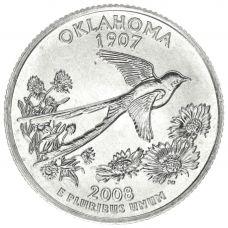 "USA 2008 $0,25 Oklahoma ""D"" UNC"