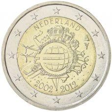 Alankomaat 2012 2 € Euro 10 vuotta UNC