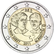Belgia 2011 2 € Kansainvälinen naistenpäivä 100 vuotta UNC