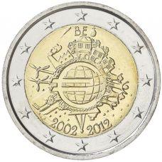 Belgia 2012 2 € Euro 10 vuotta UNC