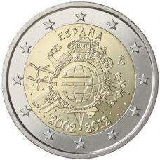 Espanja 2012 2 € Euro 10 vuotta UNC