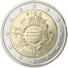 Irlanti 2012 2 € Euro 10 vuotta UNC