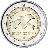 Italia 2011 2 € 150 vuotta Italian yhdistymisestä UNC