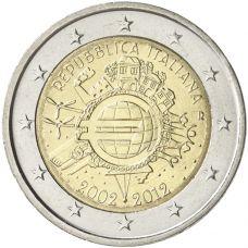 Italia 2012 2 € Euro 10 vuotta UNC