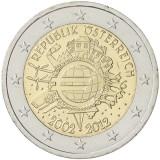 Itävalta 2012 2 € Euro 10 vuotta UNC