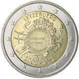 Luxemburg 2012 2 € Euro 10 vuotta UNC