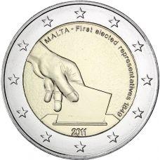 Malta 2011 2 € Vaalit 1849 UNC