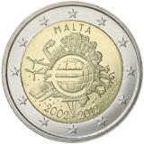 Malta 2012 2 € Euro 10 vuotta UNC