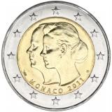 Monaco 2011 2 € Charlene & Albert irtokolikko UNC