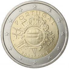 Portugali 2012 2 € Euro 10 vuotta UNC
