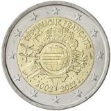 Ranska 2012 2 € Euro 10 vuotta UNC