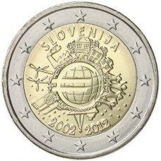 Slovenia 2012 2 € Euro 10 vuotta UNC