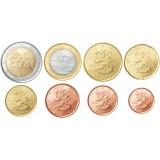Suomi 2012 1 c – 2 € Irtokolikot UNC