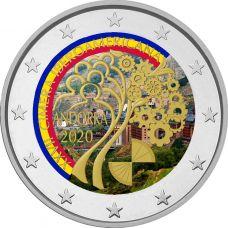 Andorra 2020 2 € Iberoamerikkalainen huippukokous VÄRITETTY