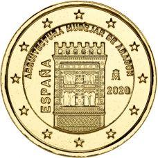 Espanja 2020 2 € Aragonian arkkitehtuuri KULLATTU