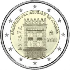 Espanja 2020 2 € Aragonian arkkitehtuuri UNC