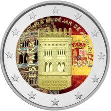 Espanja 2020 2 € Aragonian arkkitehtuuri VÄRITETTY