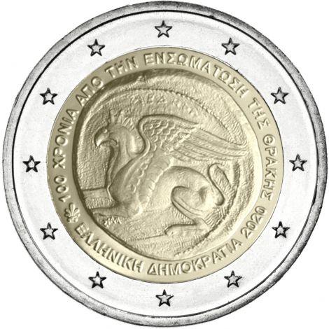 Kreikka 2020 2 € Traakia UNC