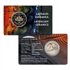 Latvia 2020 2 € Latgalen keramiikka COINCARD
