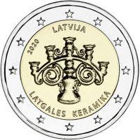 Latvia 2020 2 € Latgalen keramiikka UNC