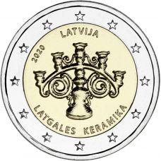 Latvia 2020 2 € Latgalen keramiikka BU