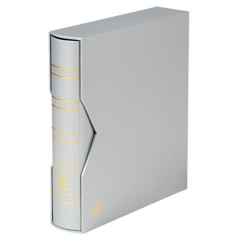 Keräilykansio, Leuchtturm OPTIMA Classic kotelossa ilman lehtiä - hopea (361114)