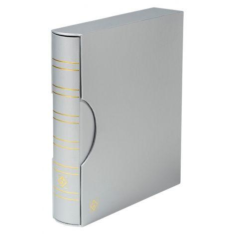 Keräilykansio, Leuchtturm GRANDE Classic kotelossa - hopea (361117)