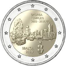 "Malta 2020 2 € Skorban temppelit ""F"" BU"