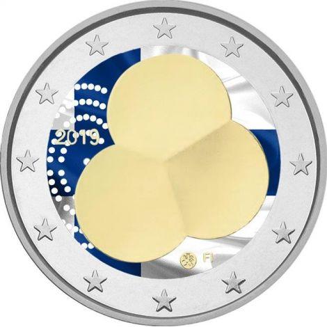 Suomi 2019 2 € Suomen Hallitusmuoto 1919 VÄRITETTY